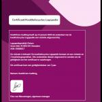 Certificaat Kwaliteitscyclus Logopedie behaald.